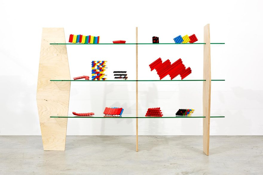 Paul Edmunds - ,Lego Lab,, 2015 Lego, timber, and glass 110 x 160 x 40.5 cm