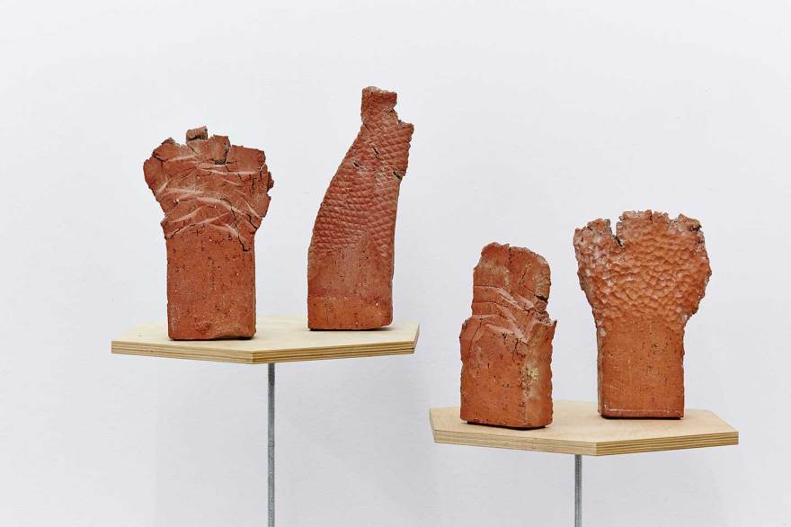 Paul Edmunds - 'Terminates', 2014 Brick clay and hardware Dimensions variable